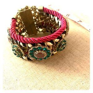 🎈Chunky jeweled statement bracelet